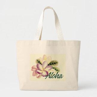 Aloha Plumeria Jumbo Stoffbeutel