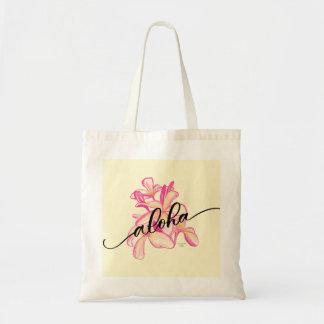Aloha Plumeria Tote Bag Tragetasche