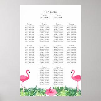 Aloha rosa Flamingo-tropischer Poster