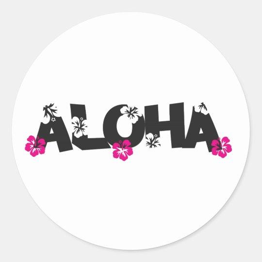 Aloha Runder Aufkleber