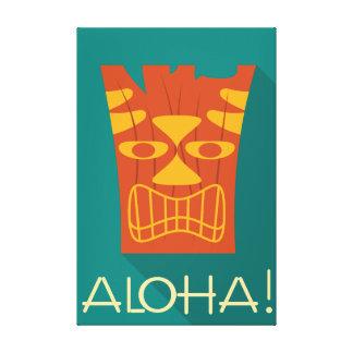 Aloha Stammes- hawaiisches Tiki Leinwanddruck