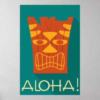 Aloha Stammes- hawaiisches Tiki Poster