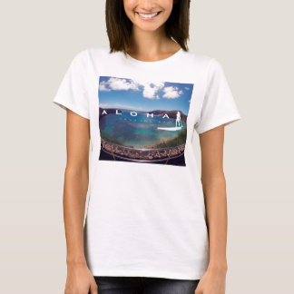 Aloha stehen Hawaii-Inseln oben schaufelnd T-Shirt