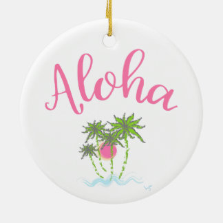 Aloha Strand-hawaiische Art Summera Keramik Ornament