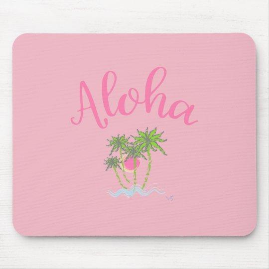 Aloha Strand-hawaiischer Art-Sommer-tropisches Mauspad