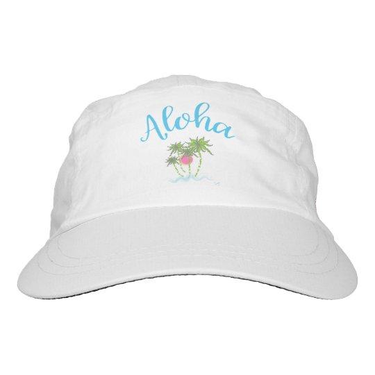 Aloha Strand-hawaiisches tropisches Sommer-Weiß Headsweats Kappe