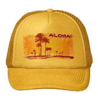 ALOHA Tropiacl Strand mit Palmen Kult Kappen
