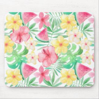 Aloha tropische exotische Blumen und Früchte Mousepad