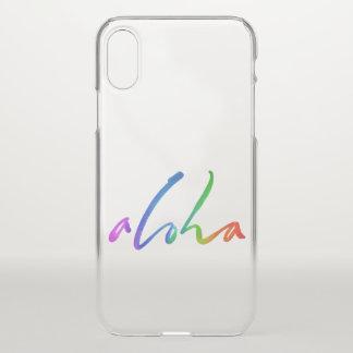 Aloha - tropische Handbeschriftung - Hawaii iPhone X Hülle
