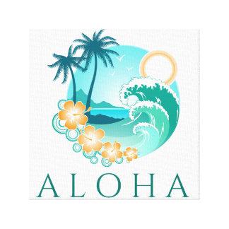 Aloha tropischer Leinwand-Druck Leinwanddruck