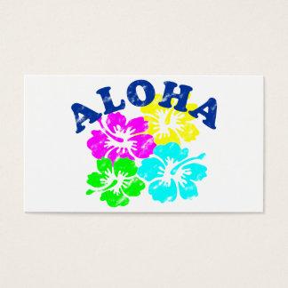 Aloha Vintage Hawaiianer-Blumen der Visitenkarte