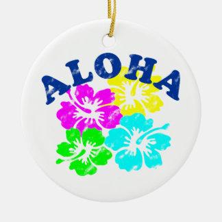 Aloha Vintage hawaiische bunte Blumen der Keramik Ornament