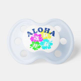 Aloha Vintager Schnuller-bunte hawaiische Blumen Schnuller
