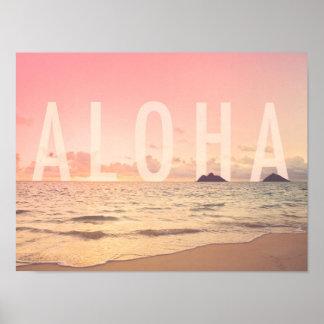 Aloha vom Hawaii-Kunst-Druck Poster