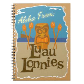 Aloha von Luau Lonnies Spiral Notizblock