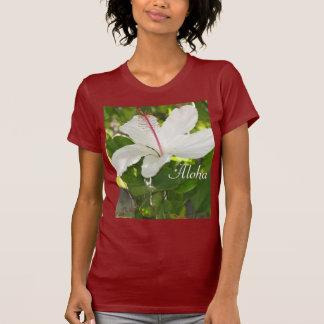 Aloha weißer Hibiskus T Shirt
