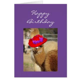 Alpaka-Geburtstagskarten Karte