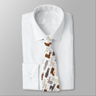Alpaka-Geo-Muster Krawatte