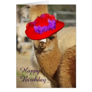Alpaka-glückliche Geburtstagskarten Mitteilungskarte