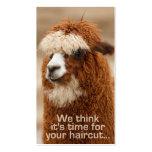 Alpaka Hairstylist-Verabredungskarten Visitenkarten Vorlagen