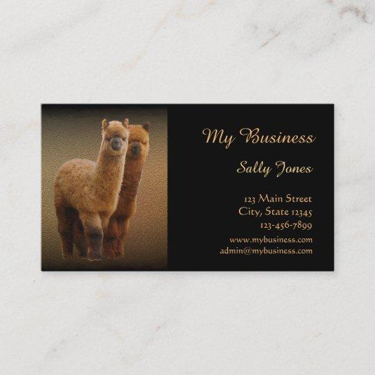 Alpaka Haustierpflege Visitenkarten Doppelseitig