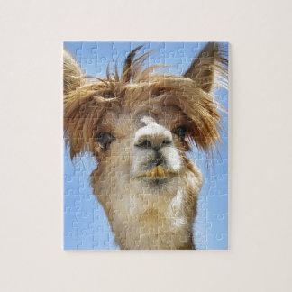 Alpaka mit dem verrückten Haar Puzzle