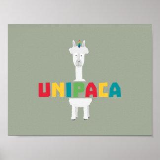 Alpaka-Regenbogen-Einhorn Z0ghq Poster