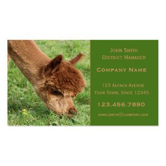 Alpaka-Visitenkarte Visitenkarten