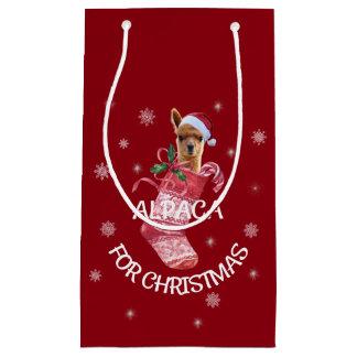 Alpaka-Weihnachtsgeschenk-Tasche Kleine Geschenktüte