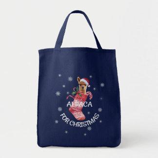 Alpaka-WeihnachtsTasche Tragetasche