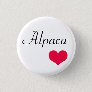 Alpakaherz Runder Button 3,2 Cm