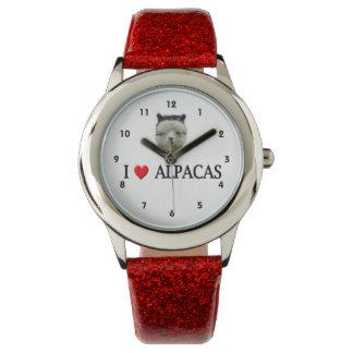"Alpakas ""des Herz-I"" Armbanduhr"