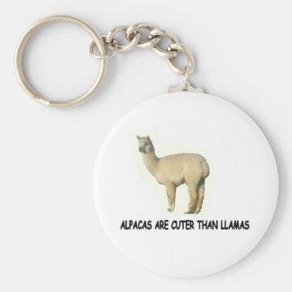 Alpakas sind niedlicher als Lamas Schlüsselanhänger