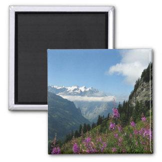 Alpen, die Schweiz Quadratischer Magnet