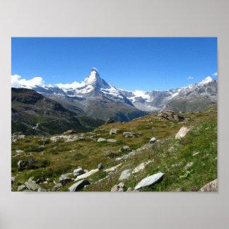 Alpen-Wert-Plakat-Papier Matterhorns Schweizer Poster