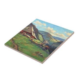 Alpen-Wiesen-Wildblume-Blumen-Weg-Kabinen-Fliese Fliese