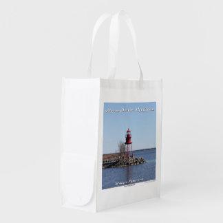 Alpena Hafen-Leuchtturm: Wiederverwendbare Wiederverwendbare Tragetasche