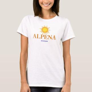Alpena, Michigan - mit Goldsun-Ikone T-Shirt