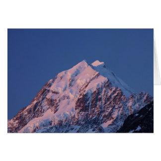 Alpenglow auf Aoraki Berg-Koch, der Mackenzie 2 Karte
