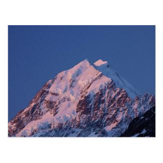 Alpenglow auf Aoraki Berg-Koch, der Mackenzie 2 Postkarte