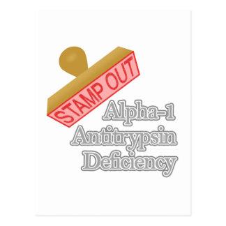 Alpha-1 Antitrypsin Mangel Postkarte