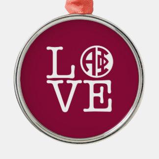 Alpha Liebe des Phi-| Silbernes Ornament