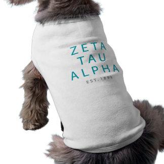 Alpha moderne Art ZetaTau Shirt