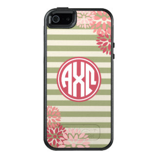 Alpha Monogramm-Streifen-Muster Chi-Omegas | OtterBox iPhone 5/5s/SE Hülle