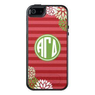Alpha Monogramm-Streifen-Muster des OtterBox iPhone 5/5s/SE Hülle