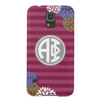 Alpha Monogramm-Streifen-Muster des Phi-| Samsung Galaxy S5 Hüllen