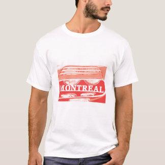 Alpha-Montreal-Scheinwerfernahaufnahme mit Skript T-Shirt