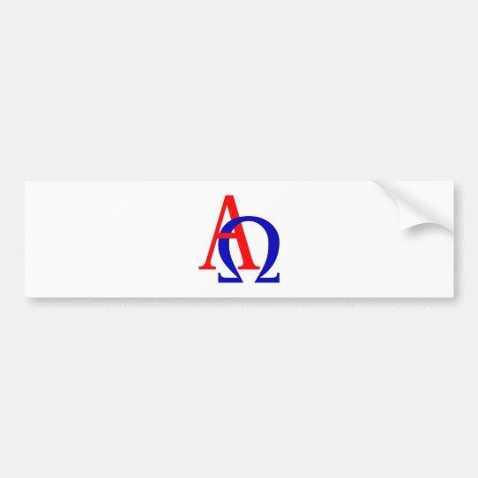 Alpha Omega Autoaufkleber