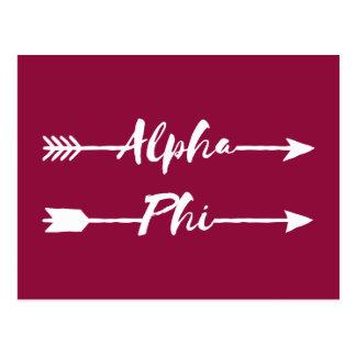 Alpha Pfeile des Phi-| Postkarte