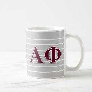 Alpha Phi-Silber-und Bordeaux-Buchstaben Tasse